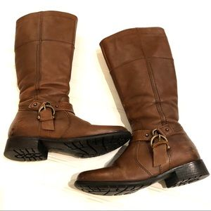 CLARKS Bendables Brown Leather Riding Boots